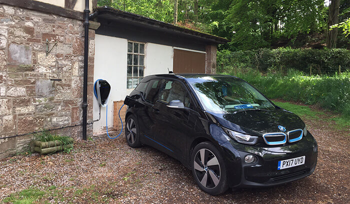 electric car charging points scotland